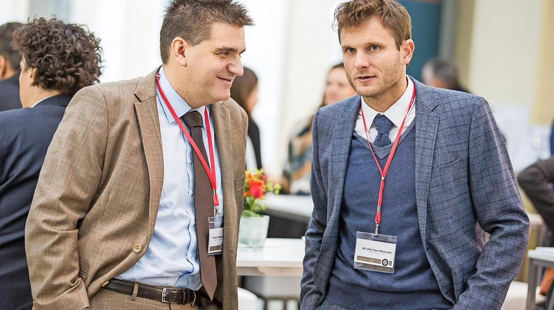 Michael Weilguny mit Paul Kleinrath, Geschäftsführer Evolit Consulting GmbH beim WMF Kongress 2019