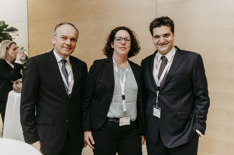 Michael Weilguny Vortrag Bodo Janssen beim Forum Aufsichtsrat 2019 mit Aleida Bos, Bos Consulting und Franz Jahn GF. OÖ HYPO-Leasing GmbH