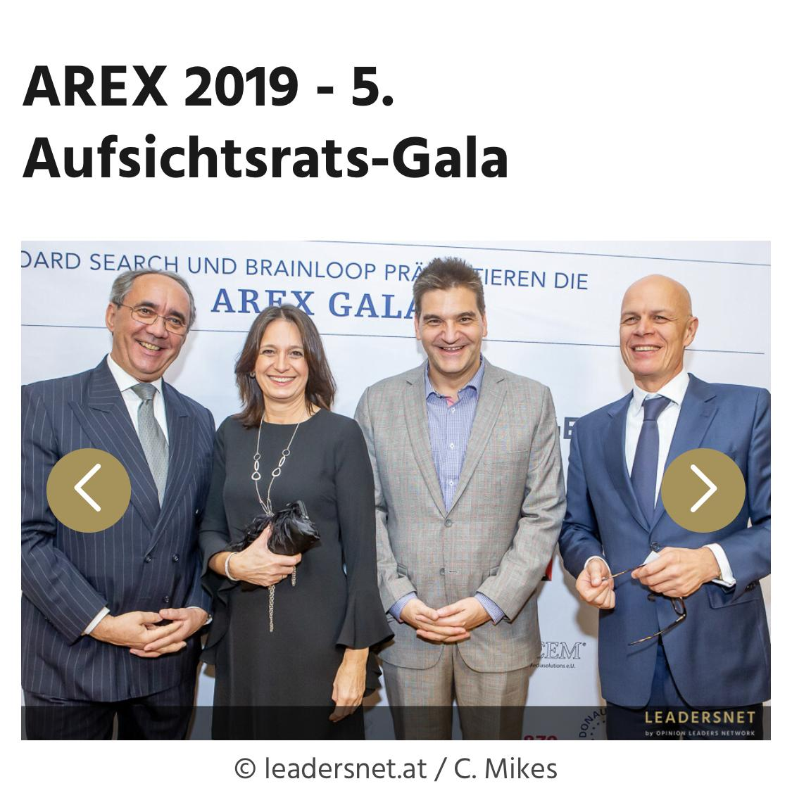 Michael Weilguny AREX Gala 2019 Aufsichtsrat Excellence Gala