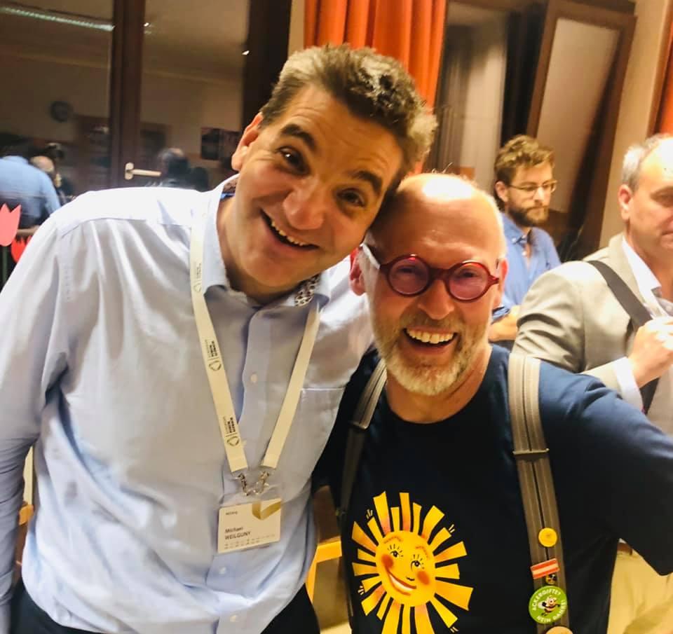 Michael Weilguny mit Johannes Gutmann Geschäftsführer Gründer Sonnentor